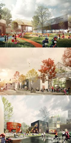 Prinsessegade Kindergarten and Youth Club Winning Proposal / COBE + NORD Architects Love the atmosphere in these renders. Prinsessegade Kindergarten and Youth Club Winning Proposal / COBE + NORD Architects Render Architecture, Croquis Architecture, Plans Architecture, Architecture Graphics, Architecture Visualization, Architecture Diagrams, Architecture Portfolio, Landscape Architecture Perspective, Urban Landscape