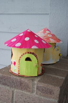 Trendy Birthday Party Activities For Girls Fairy Houses Ideas Activities For Girls, Party Activities, Cardboard Crafts, Paper Crafts, Cardboard Houses, Cardboard Play, 3d Templates, Fairy Birthday, Crafty Kids