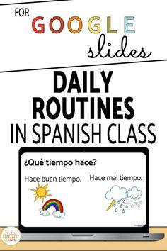 How I Teach Weather in Spanish Class - Srta Spanish