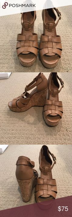 5d0dd238ffc Tory burch wedges Platform heel wedges. Hardly worn and in great condition!  Tory Burch