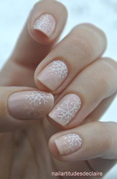 Beauty businesses! How about treating your customers to a gorgeous snowflake manicure this festive season? #winter #manicure
