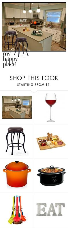 """""""Untitled #386"""" by shawanda-elam ❤ liked on Polyvore featuring interior, interiors, interior design, home, home decor, interior decorating, Crosley, Picnic at Ascot, Le Creuset and Crock-Pot"""