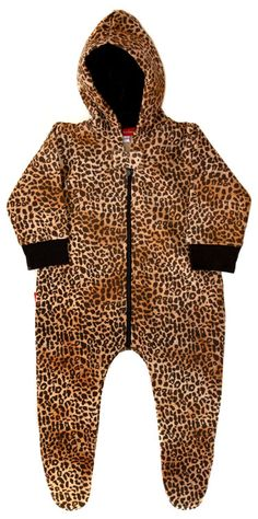 Leopard Print Hooded Playsuit - Onesies | Oh Baby London