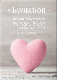 AI_010 Anniversary Invitations, 20th Anniversary, Rsvp, Invite, Monkey, Peach, Playsuit, Peaches, Birthday Invitations