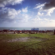 Basz @maamke1987 A view that never gets odd #skylge #sky #clouds #terschelling #storm #Doeksen #ferry #harbour