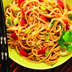 Asian Noodles with Chili-Nut Sauce