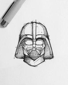 Star Wars Drawings, Cool Art Drawings, Art Drawings Sketches, Darth Vader Tattoo, Star Wars Tattoo, Star Tattoos, Star Wars Pictures, Star Wars Fan Art, Stars