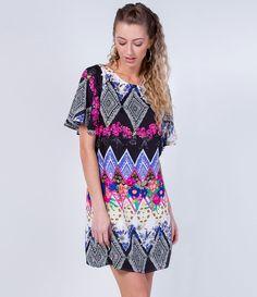Vestido com Estampa Floral - Lojas Renner
