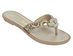 GRENDHA Schuhe - EXOTIC THONG FEM - 81648 - bronze, Größe:38 - Zehentrenner für frauen (*Partner-Link)