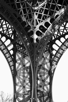 Paris, Eiffel Tower, by Rhett Redelings. It may not be covered in gargoyles, but I've always maintained the skeletal steel structural work of the Eiffel Tower to be a perfect example of Gotchic architecture.