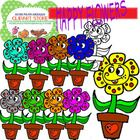 Happy Flowers Clipart Pack For Personal And Commercial Use