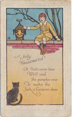 Bergman Vintage Halloween Postcard #Halloween
