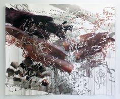 "Jessica Mongeon ""Slickrock Macrocosm"" Acrylic, India Ink on Paper"