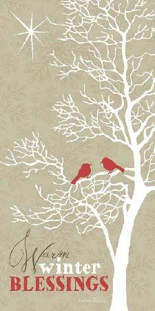 Warm Winter Wishes Cardinal Tree picture by Summer Snow Art