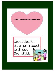 Grandparenting from a distance is hard.  Follow these great tips to help stay in touch with grandkids to be an awesome grandparent! #grandkids #grandparents #staying in touch