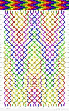 bracelet brésilien couleurs arc-en-ciel et modèle chevron (-_-メ) (#^.^#)