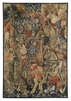 A MEDIEVAL TAPESTRY FRAGMENT, SOUTHERN NETHERLANDS, THIRD QUARTER 15TH CENTURY  Source: Sotheby's.com