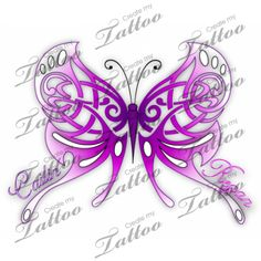 A Mother's Celtic Butterfly Custom Tattoo | Celtic Butterfly #15338 | CreateMyTattoo.com