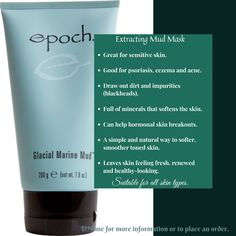 This product draw out dirt and impurities (blackheads) Glacial Marine Mud, Sensitive Skin, Minerals, Personal Care, Draw, Beauty, Products, Beleza, Personal Hygiene
