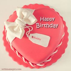 Generate Pink Color Happy Birthday Heart Shape Cake Name Edit Online On Special Shaped Cakespink For Girlfriend