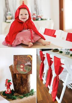 Little Red Riding Hood Woodland Wonderland Birthday--heck, I would make this my birthday party! Baby First Birthday, 1st Birthday Parties, Girl Birthday, 28th Birthday, Red Riding Hood Party, Red Ridding Hood, Fairytale Party, Red Party, Festa Party