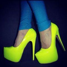 ... Chaussures Femme  Talons - Escarpins  Chaussures à Talon Fluo Neon