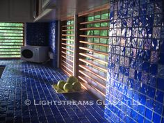Kitchen counter and backsplash in Lightstreams Renaissance Collection Intense Blue