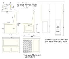 Banquettes Standard Dimensions Designer Reference Pinterest - Banquette table size