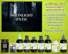 Moonlight Path (Compare To Bath & Body Works®) Product Collection - Notes of French lavender, lily of the valley, oakmoss, and musk are woven in this deeply romantic fragrance capturing the essence of moonlit strolls in lush gardens.  #OverSoyed #MoonlightPath #Candles #HomeFragrance #BathandBody #Beauty