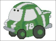 Chubby Race Cars 007 Green Go-Go - PinoyStitch