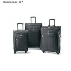 Suitcase Luggage Set Black Travel Spinner Carry Plane Cruise 3 American Tourist #AmericanTourister #SuitcaseLuggageSetBlackTravelSpinner