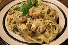 Cajun Seafood (or chicken) fettucine L: