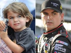 Jeff Gordon and his son, Leo! Looks just like his daddy.
