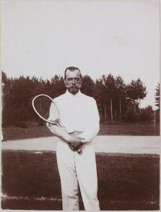 Николай II на теннисном корте
