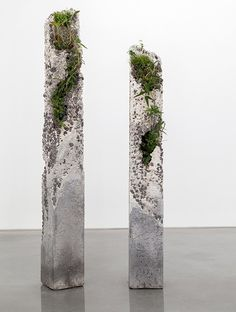 Terraforms by Jamie North. Would be a cool element in the sculpture garden at school. Concrete and succulents or moss.