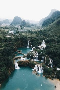 Ban Gioc Waterfall, Vietnam Posted by . (at Ban Gioc, Cao Bằng, Vietnam) Oh The Places You'll Go, Places To Travel, Travel Destinations, Places To Visit, Sanur Bali, Adventure Is Out There, Travel Goals, The Great Outdoors, Wonders Of The World