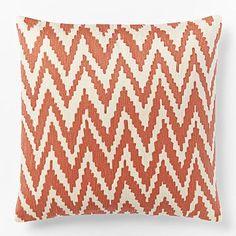 Chevron Crewel Pillow Cover - Bergamot #westelm