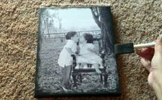 DIY photo transfer on to Canvas   you'll need  - photo and cavas that are the same size  -matte mod podge  - sponge brush  - acrylic paint of your choice!