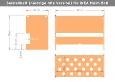 Ikea Malm Beistellbett (natur) | MALM Bett / Kommode | Ikea Möbel Apps