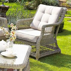 Corfu Range garden chair, sofa and coffee table