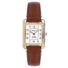Coach Page ladies' brown leather strap watch  - Ernest Jones