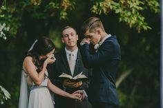 Sweet tearful ceremony moment captured by This Rad Love