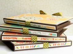 Debby Hughes - Lime Doodle Design - card, set, sets, Amy Butler, stationary, card folder, folder