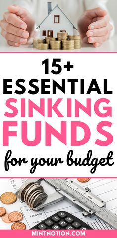 Sinking funds categories you need in your budget. Here's a list of top sinking funds that can help you save money without having to dip into your emergency fund or go into debt. Includes printable sinking funds tracker to help you track and organize your savings. Personal Finance Articles, Sinking Funds, Life On A Budget, Paying Off Student Loans, Create A Budget, Frugal Living Tips, Debt Payoff, Credit Score, Extra Money