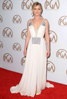 Jennifer Lawrence arrives at the 26th Annual PGA Awards at the Hyatt Regency Century Plaza on Jan. 24, 2015, in Los Angeles.