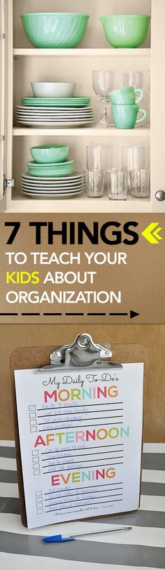 7 Things to Teach Your Kids About Organization -