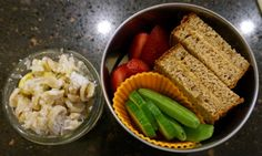 Bento for Baby: Bento for Baby 57:  Banana Bread Peanut Butter Sandwich and Pasta Carbonara