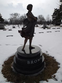 The Brown Marker at the Marion Cemetery, Marion, Ohio