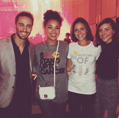 Richard, Aisha, Italia and Haley at the American Cancer Society viewing party for Stand Up 2 Cancer!