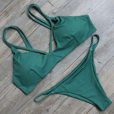 Sexy Bikini Set Swimsuit Bathing Suit Bandage Bikinis